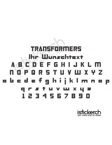 schriftart transformers
