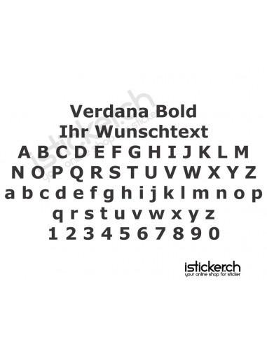 Schriftensammlung Verdana Bold Schriftart