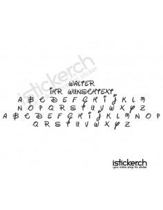 Walter Schriftart
