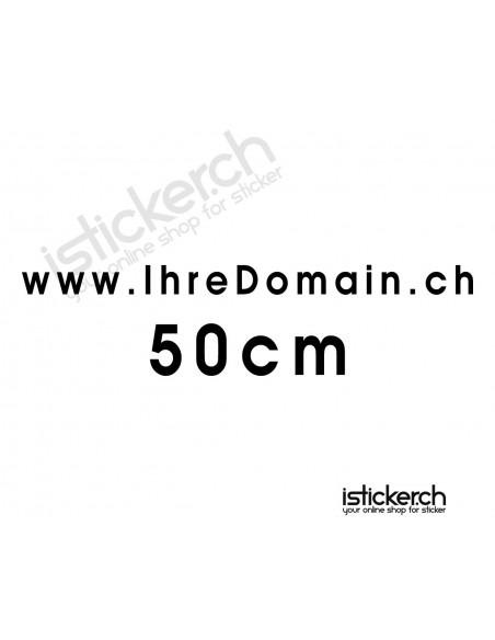 Domainaufkleber - 50cm