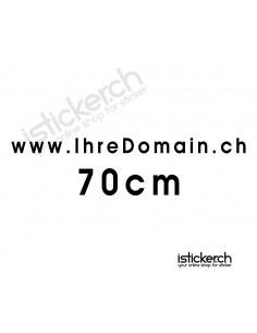 Domainaufkleber - 70cm