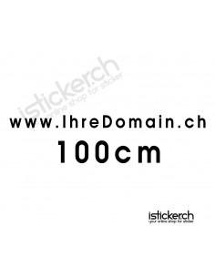 Domainaufkleber - 100cm