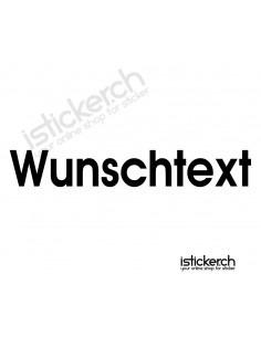 Wunschtext Aufkleber - 35cm