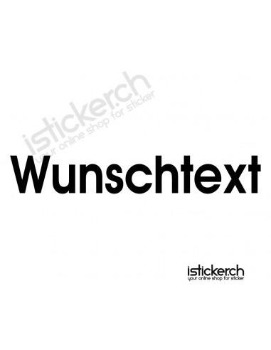 Wunschtext Aufkleber - 110cm