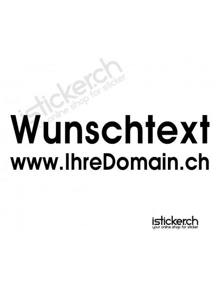 Wunschtext - 2 Zeilig - 30cm