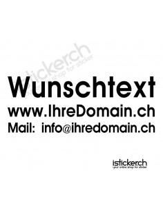 Wunschtext - 3 Zeilig - 80cm