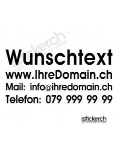 Wunschtext - 4 Zeilig - 60cm