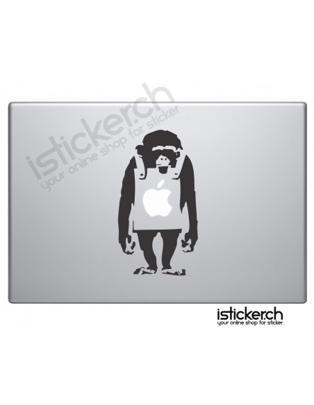 Banksy Monkey Macbook Aufkleber