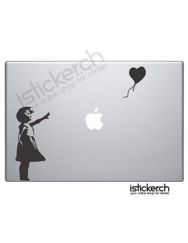 Apple Macbook Sticker Banksy Ballon Girl Macbook Aufkleber
