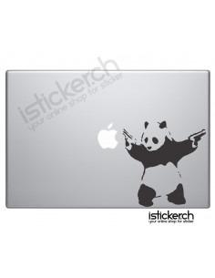 Banksy Panda Macbook Aufkleber
