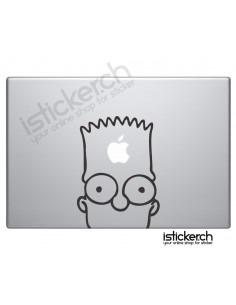 Bart Simpson Macbook Aufkleber