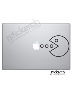 Pacman Macbook Aufkleber