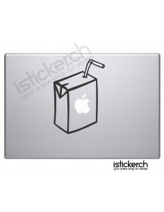 Apple Juice Macbook Aufkleber