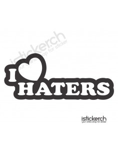 Autoaufkleber i love haters