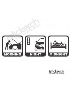 Morning - Night - Midnight