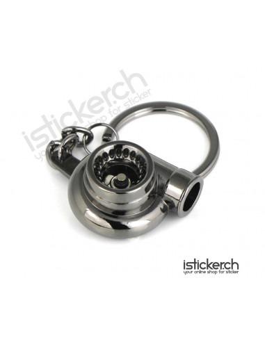 JDM Tuning Accessoires Turbo Schlüsselanhänger Black Chrom