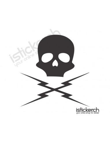FIlm & TV Sticker Death Proof Skull