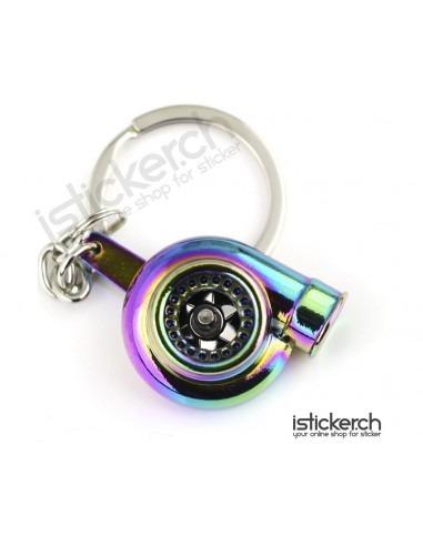 Turbo Schlüsselanhänger Rainbow
