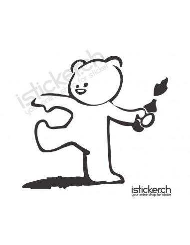 JDM Tuning Sticker Teddy Bomber