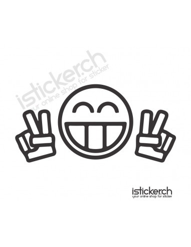 JDM Tuning Sticker Peace Smiley
