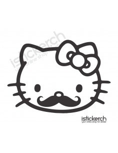 Moustache Hello Kitty