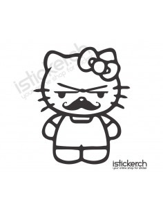 Moustache 2 Hello Kitty