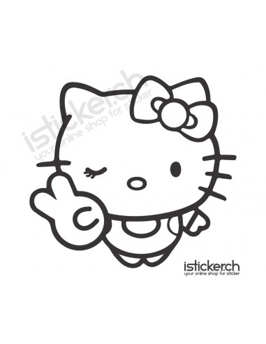 Peace Hello Kitty