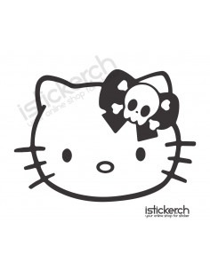 Skull Bow Hello Kitty