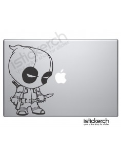 Little Deadpool Macbook Aufkleber