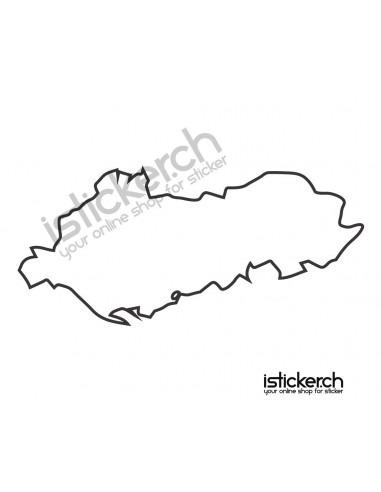 Landkarte Albanien