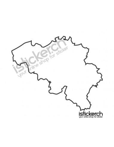 Länder & Wappen Landkarte Belgien