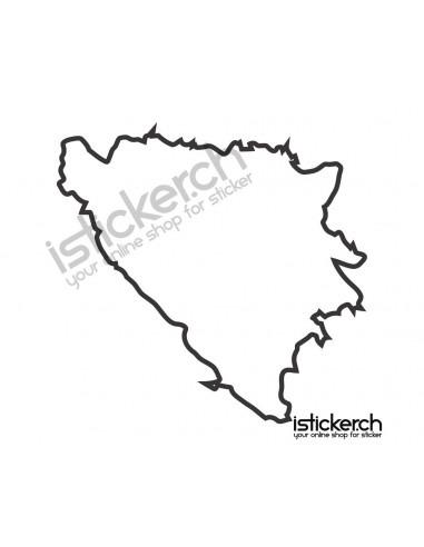 Länder & Wappen Landkarte Bosnien