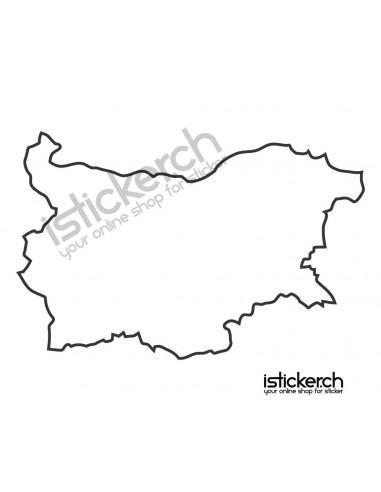 Länder & Wappen Landkarte Bulgarien