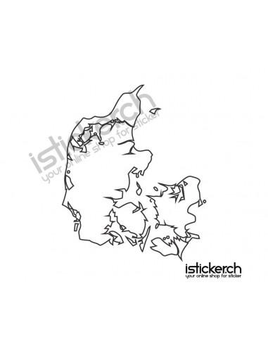 Länder & Wappen Landkarte Dänemark