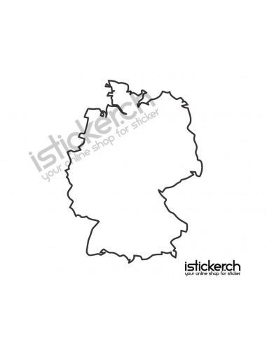 Länder & Wappen Landkarte Deutschland