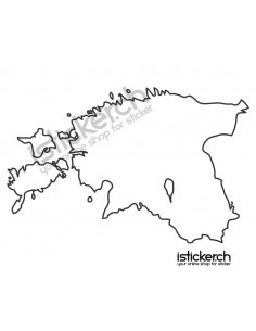 Landkarte Estland
