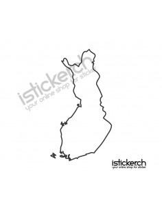 Landkarte Finnland