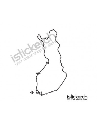 Länder & Wappen Landkarte Finnland