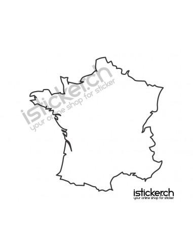 Länder & Wappen Landkarte France
