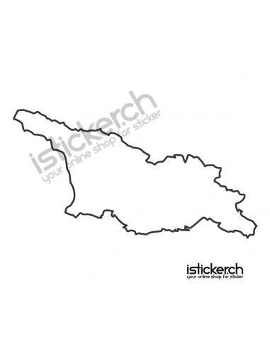 Länder & Wappen Landkarte Georgien