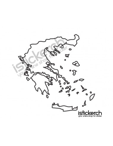 Länder & Wappen Landkarte Griechenland