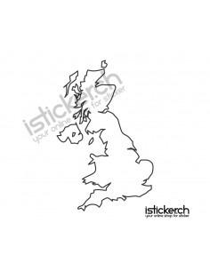 Landkarte Grossbritanien