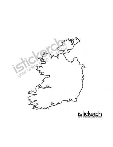 Länder & Wappen Landkarte Irland