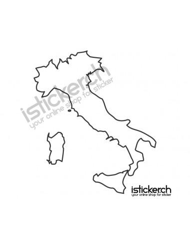Länder & Wappen Landkarte Italien