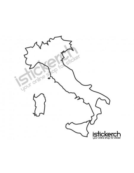 Landkarte Italien