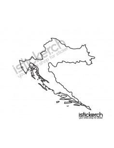Landkarte Kroatien