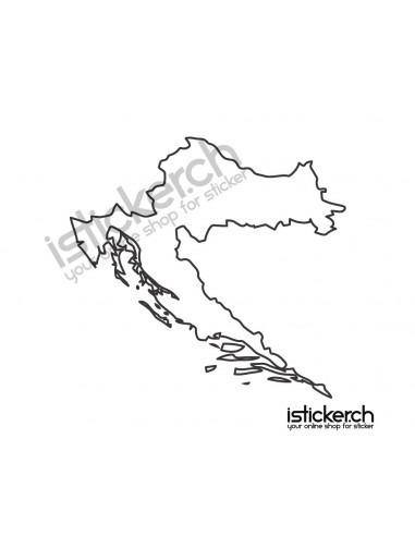 Länder & Wappen Landkarte Kroatien