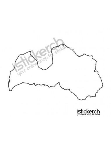 Länder & Wappen Landkarte Lettland