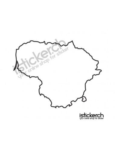 Länder & Wappen Landkarte Litauen