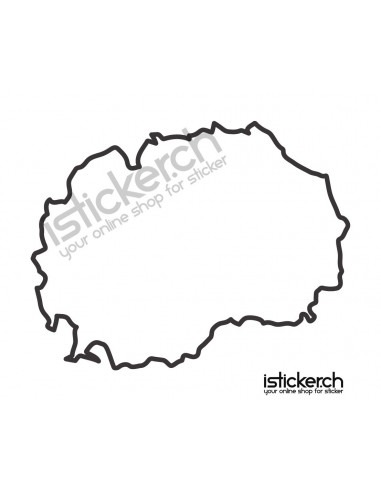 Länder & Wappen Landkarte Mazedonien